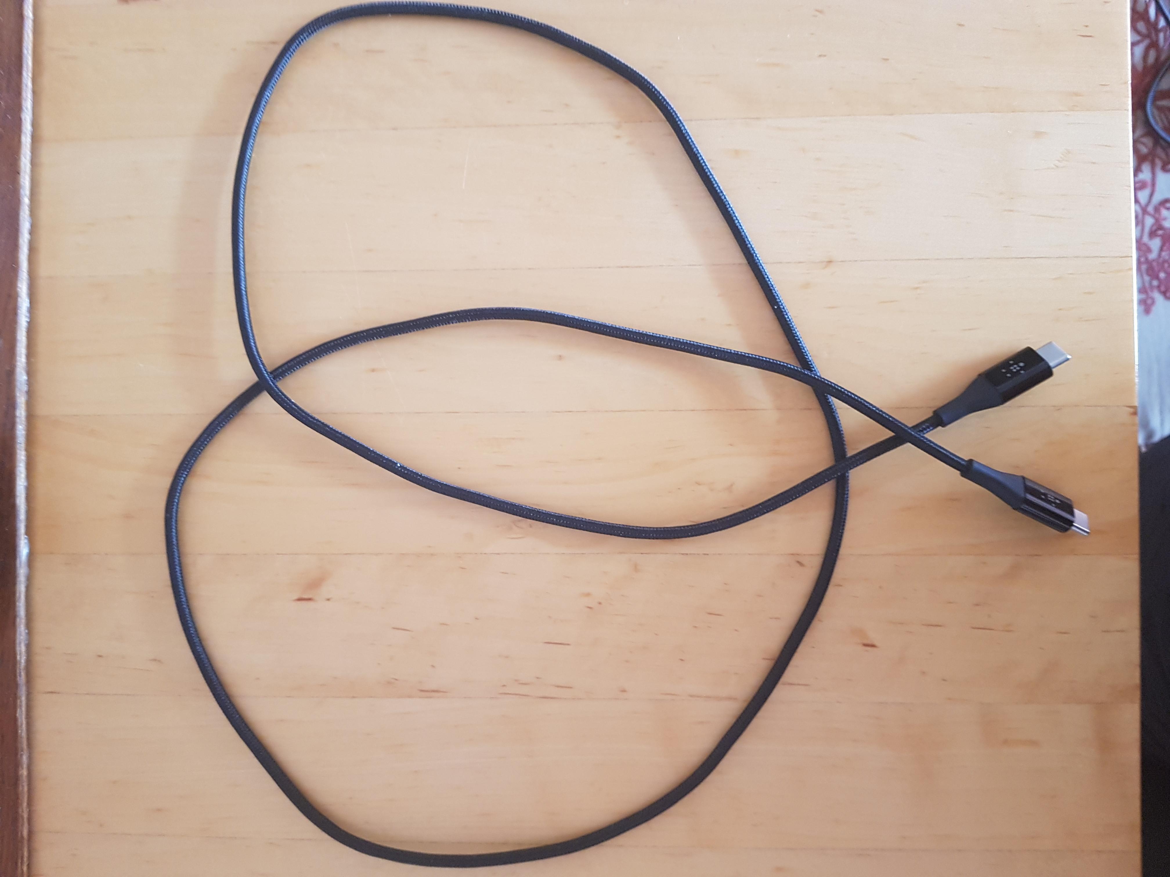 Belkin Duratek Usb C naar Usb C Kabel Zwart 1,2 Meter