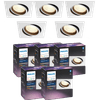 Philips Hue Centura Inbouwspot White & Colour vierkant wit 5-Pack