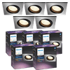 Philips Hue Centura Recessed Spot Light White & Color square aluminum 5-pack