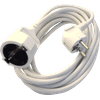 Deltac Extension Cable 230V White 5 Meters