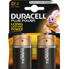 Duracell Plus Power alkaline D batteries 2 pieces
