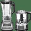 KitchenAid Diamond Blender Zilver + Hakmolen
