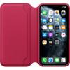 Apple iPhone 11 Pro Max Leather Folio Framboos