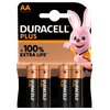 Duracell Alka Plus AA batteries 4 units