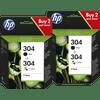 HP 304 Cartridges Duo Combo Pack