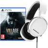 Resident Evil Village PS5 + SteelSeries Arctis 3 2019 Wit