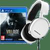 Resident Evil Village PS4 + SteelSeries Arctis 3 2019 Wit