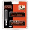 BLACK+DECKER 21-delige bitset A7074-XJ