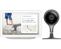 Google Nest Hub Chalk + Google Nest Cam Indoor