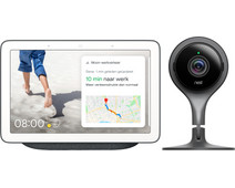 Google Nest Hub Charcoal + Google Nest Cam Indoor