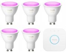 Philips Hue White & Colour Starter Pack GU10 - 5 lights