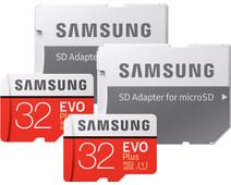 Samsung microSDHC EVO+ 32 GB 95MB/S CL 10 + SD Adapter Duo Pack