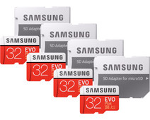 Samsung microSDHC EVO+ 32 GB 95MB/S CL 10 + SD Adapter Quad Pack