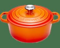 Le Creuset Ronde Stoof-/Braadpan 26 cm Oranje-rood