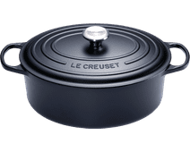 Le Creuset Ovale Stoof-/Braadpan 29 cm Zwart