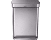 Simplehuman Rectangular Liner Pocket 55 Liter Stainless Steel