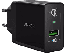 Anker PowerPort+1 Charger without Cable 18W Quick Charge 3.0 Black