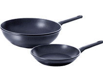 BK Easy Induction Frying Pan and Wok 24+30cm