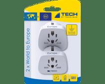 Travel Blue 2 x Wereld Adapter - Europa