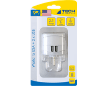 Travel Blue Wereld Adapter - USA + USB