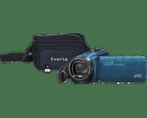 JVC GZ-R495AEU Blue + memory card + bag
