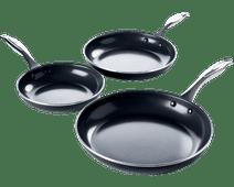 GreenPan Brussels Ceramic Frying Pan Set 20cm + 24cm + 28cm