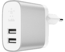 Belkin Boost Charge Usb Home Charger with 2 Usb a Ports 12W White / Silver