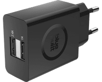 BlueBuilt 3.4A Charger with 2 USB Ports Black