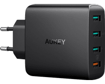 Aukey Charger without Cable 4 Usb Ports 18W Quick Charge 3.0