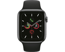 Apple Watch Series 5 44mm Space Gray Aluminum Black Sport Band