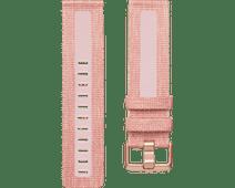 Fitbit Versa 2 Woven Siliconen Horlogeband Roze S