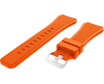 Just in Case Samsung Galaxy Watch 46mm Siliconen Bandje Oranje