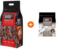 Weber Briketten 8 kg + Aanmaakblokjes