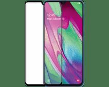 Azuri Gehard Glas Samsung Galaxy A40 Screenprotector Glas Zwart