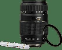 Tamron AF-D 70-300mm f/4.0-5.6 Di LD Nikon FX + UV-Filter 62mm + Elite Lenspen