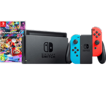 Nintendo Switch (2019 Upgrade) Rood/Blauw Mario Kart Bundel