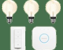 Philips Hue Filament Light White Globe E27 Bluetooth Starter Pack