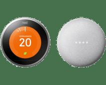 Nest Learning Thermostat V3 + Google Nest Mini White