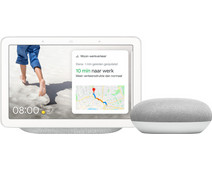 Google Nest Hub Chalk + Nest Mini Wit
