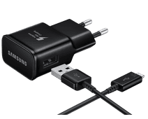Samsung Charger with USB-C Cable 1.5m Adaptive Fast Charge 15W Black