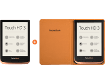 PocketBook Touch HD 3 Koper + PocketBook Book Book Case Bruin