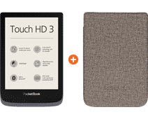 PocketBook Touch HD 3 Grijs + PocketBook Shell Book Case Gri