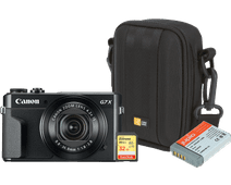 Starter kit - Canon Powershot G7 X II + Memory + Bag + Extra battery