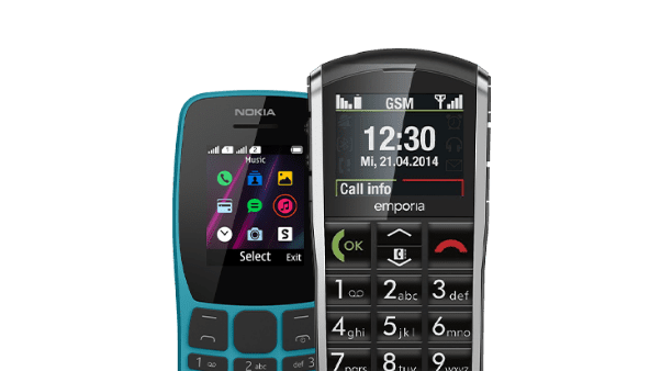 GSM's met fysieke toetsen