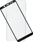 Azuri Protection Samsung Galaxy A6 (2018) Full Body Transparant