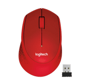 Logitech M330 Silent Wireless Mouse Red