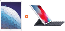Apple iPad Air (2019) 64 GB Wifi + 4G Zilver + Smart Keyboard