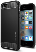Spigen Rugged Armor Apple iPhone 5/5S/5SE Zwart