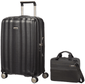 Samsonite Lite-Cube Spinner 68cm Graphite + Samsonite Network 3 Laptoptas 14,1'' Zwart