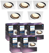 Philips Hue Centura Recessed Spot Light White & Color square white 5-pack